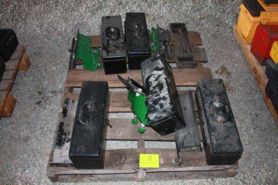 5 John Deere Metal Tool Boxes