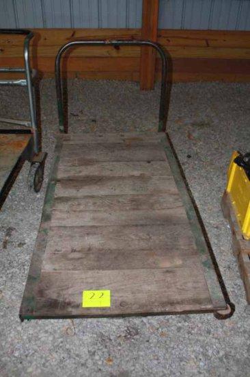 Wooden Deck 4 Wheel Dolley Cart