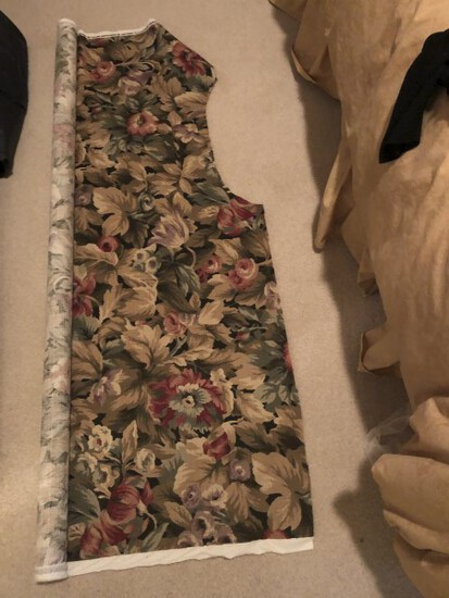 Partial roll of upholstery