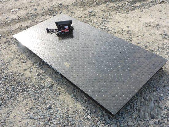 10 Ton Digital Floor Scale c/w: 78'' platform