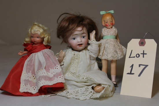 (1) Small Vintage Germany Doll, (1) Unknown Small Vintage Doll, (1) Vintage