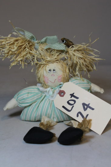 Small Straw Vintage Doll