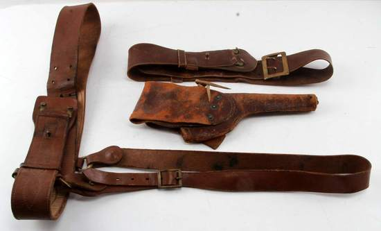 US ARMY LEATHER BELT AND 1911 HOLSTER LOT | Firearms