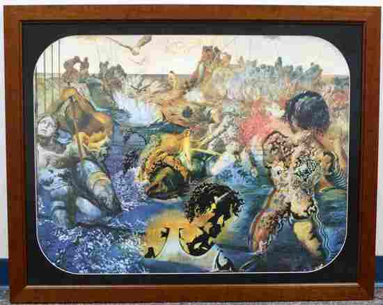 FRAMED MUSEUM GLASS SALVADOR DALI SURREAL PRINT