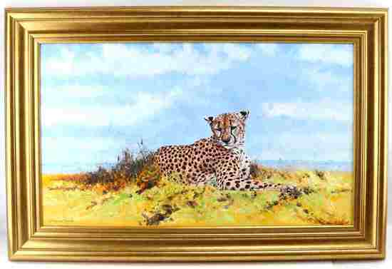 DHARBINDER S BAMRAH WILDLIFE PAINTING CHEETAH