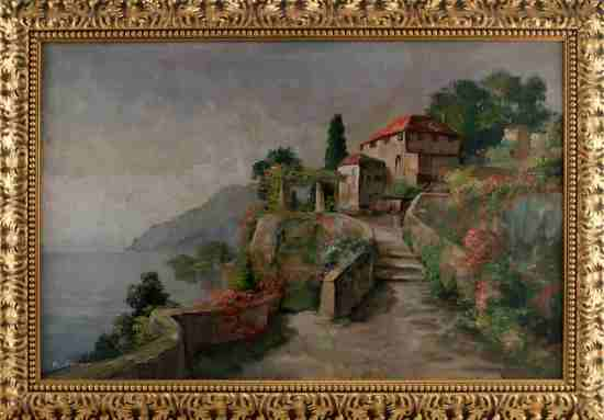 EARLY 20TH CENTURY IMPRESSIONIST SEASCAPE PAINTING
