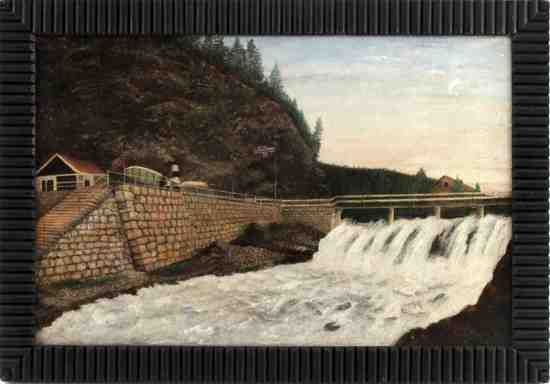 20TH CENTURY NORWEGIAN LANDSCAPE PAINTING RUSSELL
