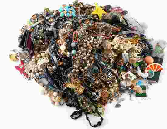 9.2 POUNDS OF TRULY UNSEARCHED COSTUME JEWELRY