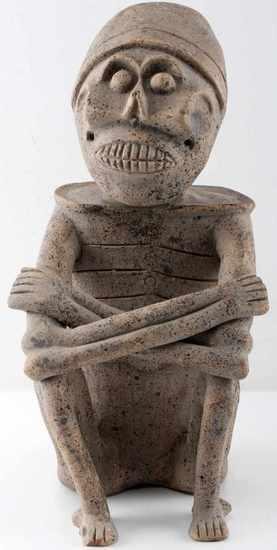 PRECOLUMBIAN AZTEC MICTLANTECUHTLI SCULPTURE