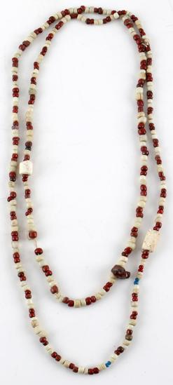 INDIAN TRADE BEADS RED & WHITE CALIFORNIA SITE