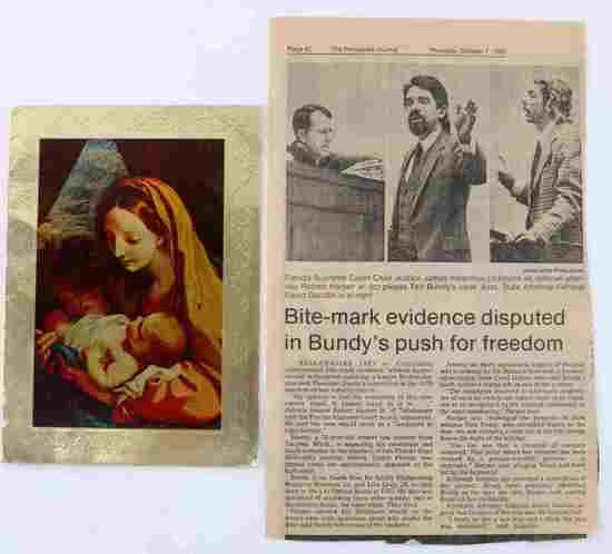 TED BUNDY & WIFE SIGNED CHRISTMAS CARD TO ATTORNEY