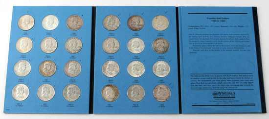 COMPLETE FRANKLIN HALF DOLLAR SET 1948 TO 1963