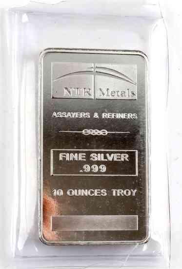 NTR 10 OZT .999 FINE SILVER BAR INGOT