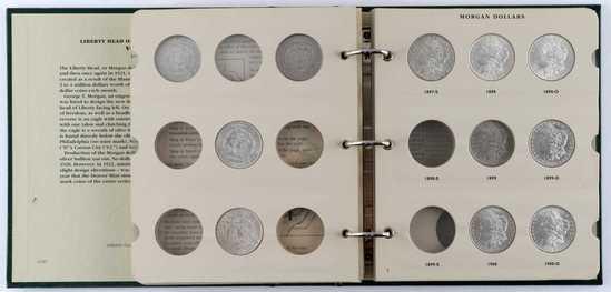 1892 1921 MORGAN SILVER DOLLAR SHORT SET 16 COINS