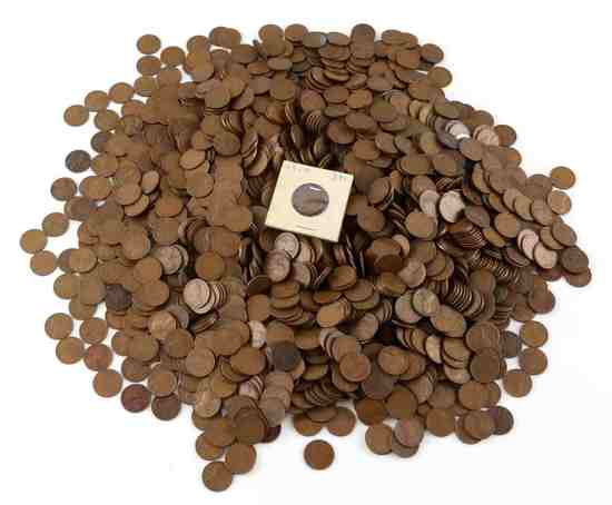 OVER 12 POUNDS OF UNSEARCHED WHEAT LINCOLN PENNIES