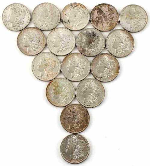 15 MORGAN SILVER DOLLAR BU UNCIRCULATED COIN LOT