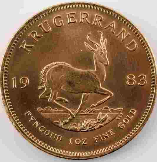 1983 GOLD 1 OZ KRUGERRAND COIN AU CONDITION