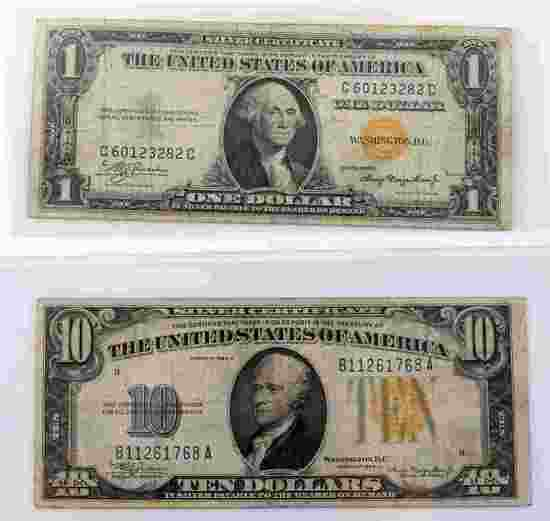 WWII NORTH AFRICA REPLACEMENT BANKNOTES $10 & $1