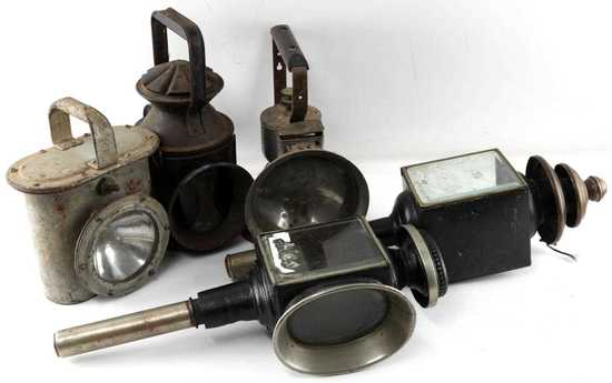 VICTORIAN TO WWII RAILROAD SHIP CARRIAGE LANTERNS
