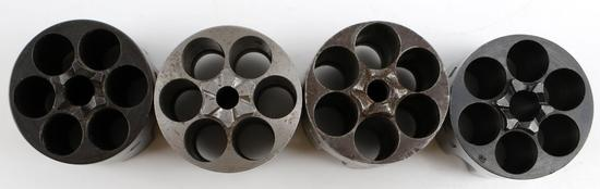 4 COLT SAA SINGLE ACTION ARMY 45 CAL GUN CYLINDERS
