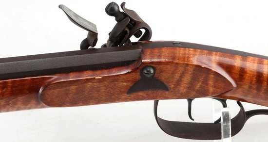 EARLY 20TH CEN. TIGER MAPLE FLINTLOCK MUSKET .32 C