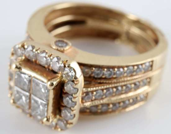 1.42 CARAT DIAMOND AND 14K GOLD RING