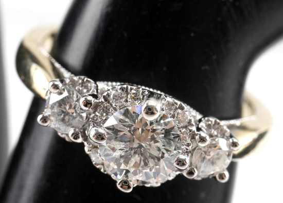 .86 TCW DIAMOND ENGAGEMENT RING 14K TOLKOWSKY