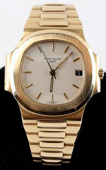 PATEK PHILIPPE 3800/01 18K MENS NAUTILUS WATCH