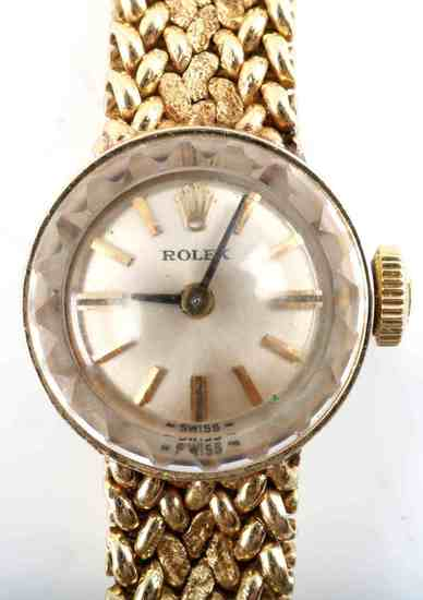LADIES 14KT GOLD ROLEX CHAMELEON WATCH