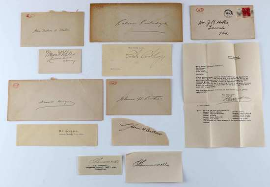 MILITARY POLITICAL HISTORICAL CLIPPED AUTOGRAPHS