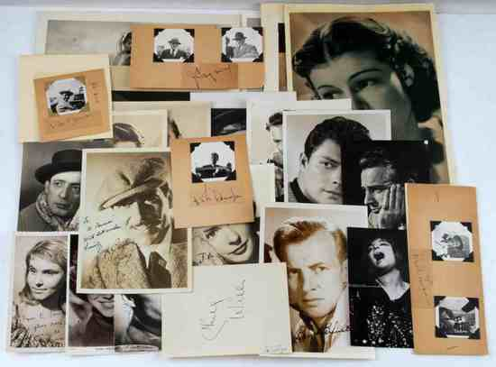 LOT OF AUTOGRAPHED VINTAGE HOLLYWOOD PHOTOGRAPHS