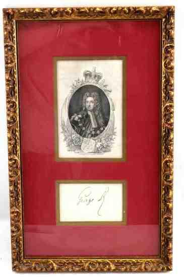 KING GEORGE II OF BRITAIN AUTOGRAPH SIGNATURE