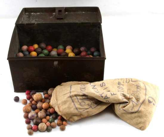 OVER 300 ANTIQUE CIVIL WAR CLAY MARBLES