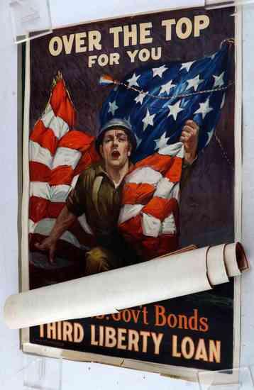 WWI WAR SAVINGS STAMPS ORIGINAL POSTER LOT