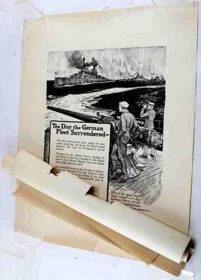 LOT TEN WWII VICTORY LIBERTY LOAN ORIGINAL POSTERS