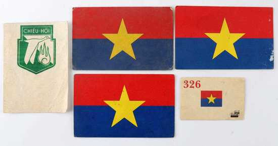 LOT OF 4 VIET CONG PSYOP DEFECTION PROPAGANDA CARD