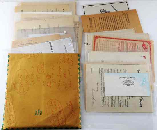 LOT MULTI CONFLICT MILITARY DOCUMENTS AND EPHEMERA