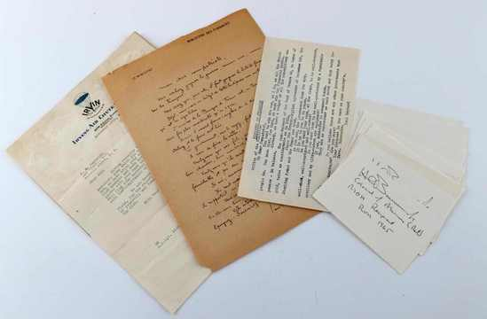 MILITARY WWI WWII DOCUMENTS AUTOGRAPHS EPHEMERA