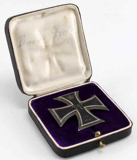 WWI IMPERIAL GERMAN 1914 IRON CROSS 1ST CLASS BOX