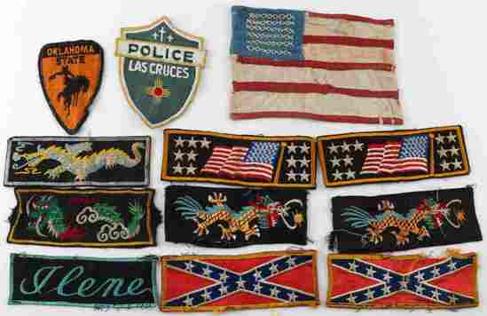 LOT OF 12 CIVIL WAR TO KOREA RARE MILITARY PATCHES