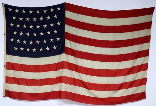 LARGE 45 STAR AMERICAN FLAG 19TH CENTURY