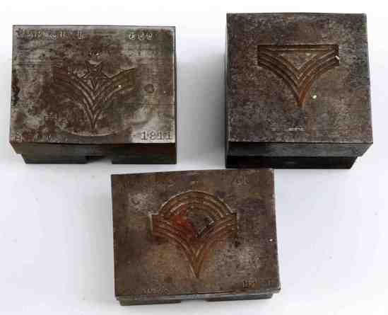 LOT OF 3 US MILITARY RANK DIE STAMPS SERGEANT