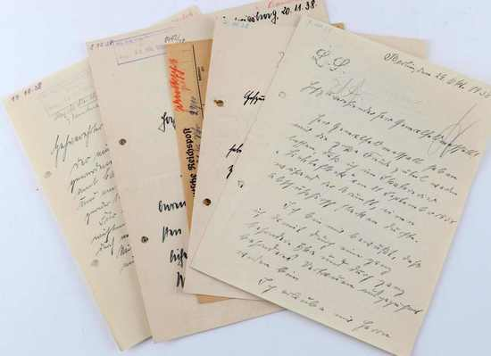 5 WWII DOCUMENTS 0R LETTERS TO HERMANN GORING