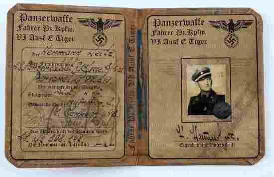 WWII THIRD REICH GERMAN PANZERWAFFE BOOKLET
