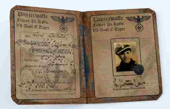 WWII THIRD REICH GERMAN PANZERWAFFE ID BOOKLET