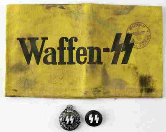 WWII GERMAN 3RD REICH WAFFEN SS ARMBAND BADGE LOT