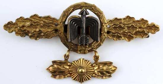 WWII GERMAN LUFTWAFFE GOLD FIGHTER PILOT CLASP