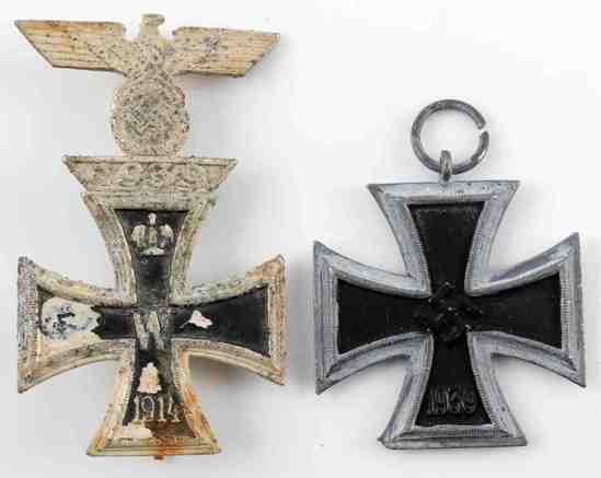 WWI WWII GERMAN THIRD REICH IRON CROSS LOT OF TWO