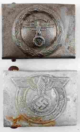 WWII GERMAN THIRD REICH NSKK & SA BELT BUCKLE LOT