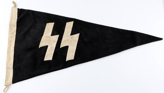 WWII GERMAN WAFFEN SS PANZER DIVISION PENNANT